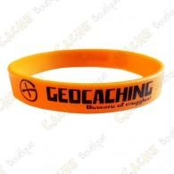 Pulsera de silicona Geocaching - Anaranjado