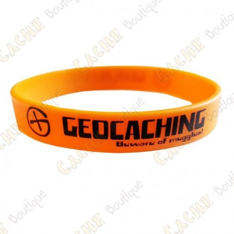 Geocaching silicone wristband - Orange