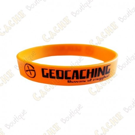Bracelet silicone Geocaching Enfants  - Orange