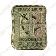 Geocaching Logo Trackable Patch - Khaki