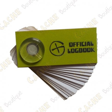 "Logbook ""Official Logbook"" Film canister"