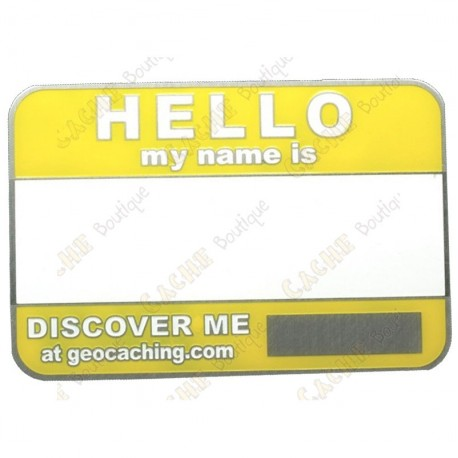 Name tag trackable - Jaune