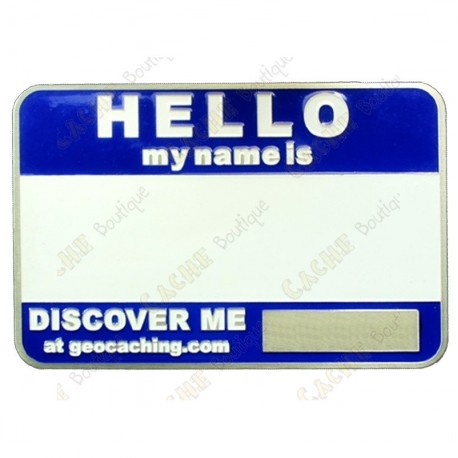 Name tag blank - Blue