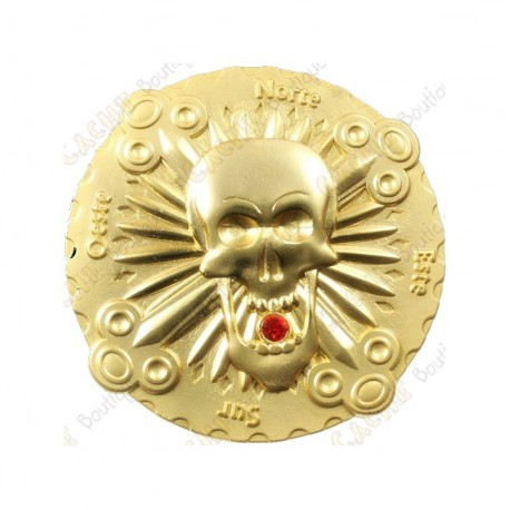 "Geocoin ""Bones & Jewels"" - Satin Gold"