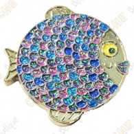 "Géocoin ""Rainbow Fish"" V2 - Fashion Purple Silver LE"