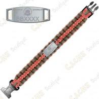 Trackable Paracord Bracelet - Brugse Beer V - Orange-Red / Grey