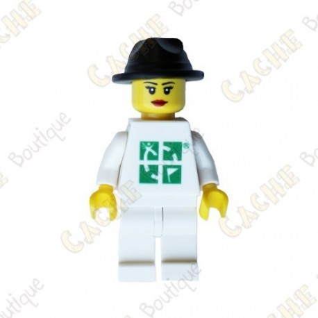 Figura Mulher LEGO™ trackable - Chapéu preto