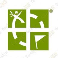 Sticker extérieur pour véhicule - Vert