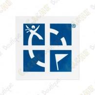 Stickers avec logo Groundspeak en couleur.