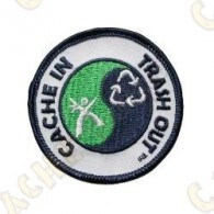 Patch geocaching com logotipo CITO.
