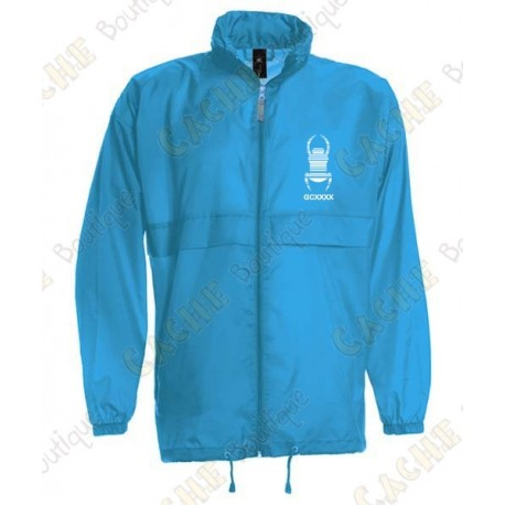 "Parka como ""K-Way"" - Azul"