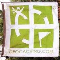 Bandeira geocaching rastreável - Modelo grande