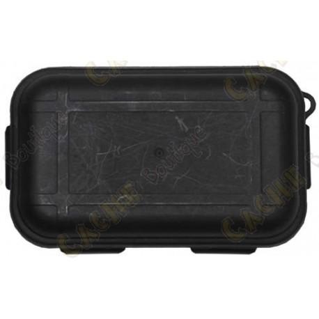 Black waterproof box with Survival Kit