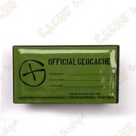 """Cache """"Official Geocache"""" rectangulaire magnétique"""