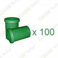 Mega-Pack - Film canister green x 100
