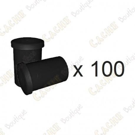 Mega-Pack - Film canister negro x 100