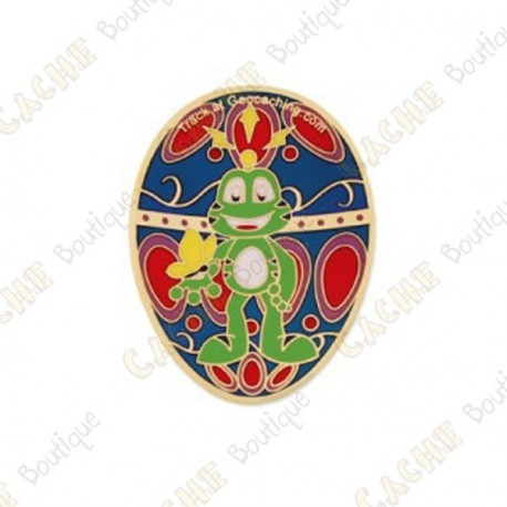 "Geocoin ""Signal the Frog®"" - Gold Egg"