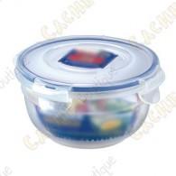 Caixa sólida em plástico, 100% hermética, com 4 dobras e juntas em silicone.