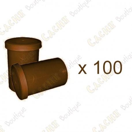 Mega-Pack - Film canister marrom x 100