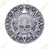 "Geocoin ""Aztec Pirate"" - Antique Silver"