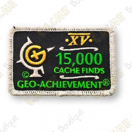 Geo Achievement® 15 000 Finds - Patch