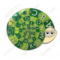 "Géocoin ""Snail ROT 13"" - Vert"