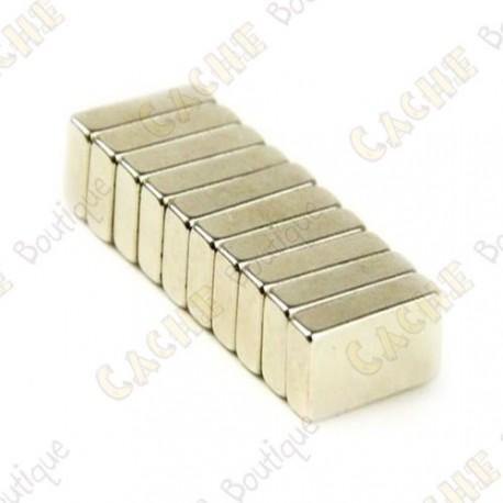 Imánes neodimios 20x4x1mm - Lote de 5
