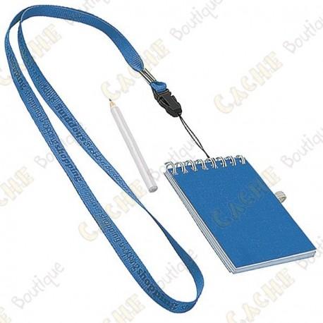 Pequeno logbook com lápis