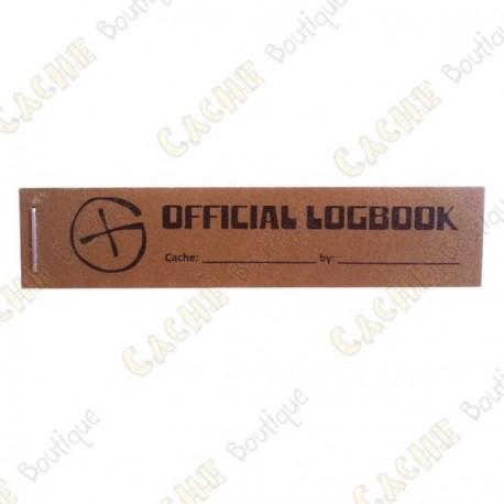 """Pequeño logbook """"Official Logbook"""" PET - Rite in the Rain"""