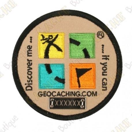 Groundspeak logo trackable patch - Round
