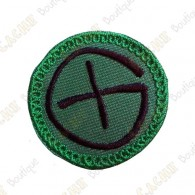 Patch geocaching - Verde / Preto