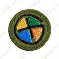 Geocaching round patch - Quadricolor / Khaki