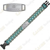 Trackable Paracord Bracelet - Brugse Beer VI - Aqua / Grey - Presale