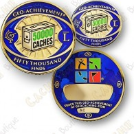 Geo Achievement® 50 000 Finds - Coin + Pin's