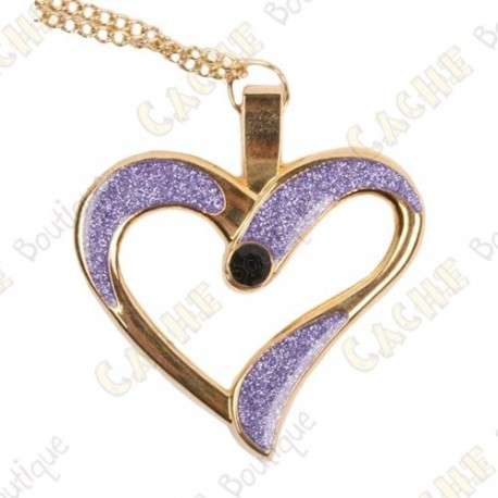 "Geocoin Colar ""Eternal Love"" - Roxo / Ouro"