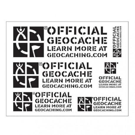"""Stencil """"Official Geocache"""" - Groundspeak"""