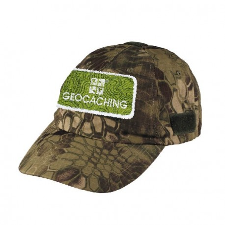 Geocaching cap with patch - Snake camo