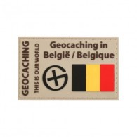 """Geocaching en Belgique"" PVC patch"
