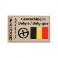"""Parche """"Geocaching en Belgique"""" PVC"""