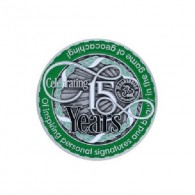 "Geocoin ""Moun10Bike 15 Year Tribute"""