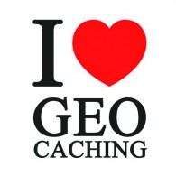 "Sticker vinil ""I love Geocaching"" - 10 x 10 cm"