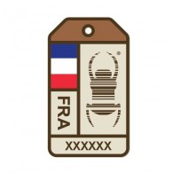 """Sticker Travel Bug """"Origins"""" - Francia"""