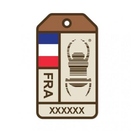 """Sticker Travel Bug """"Origins"""" - França"""