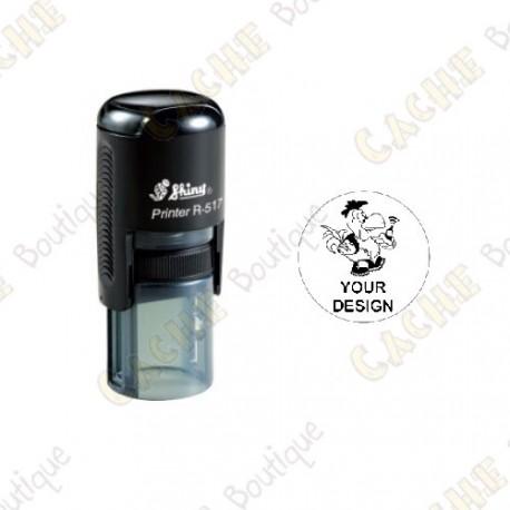 Estampilla ronda 100% personalizada - 17mm