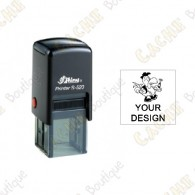 100% custom square stamp - 20mm