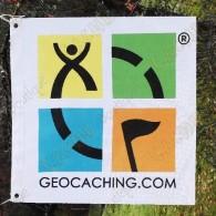 Bandera Geocaching color trackable - Modelo pequeño