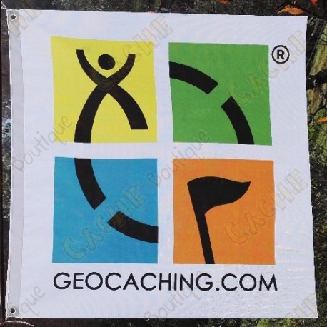 Bandeira Geocaching color trackable - Modelo grande