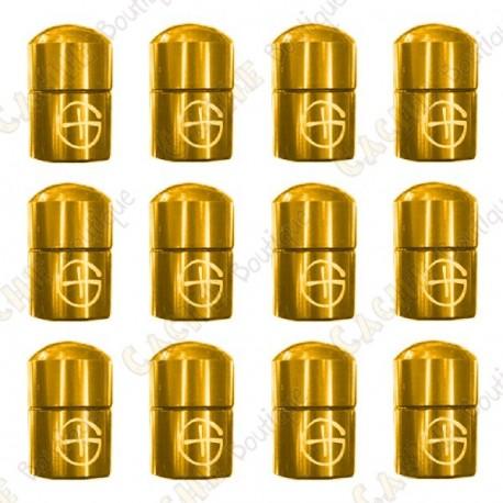 """Nano Cache magnética """"Geo"""" x 12 - Ouro"""