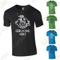 "T-shirt ""Geocaching Addict"" Homem"