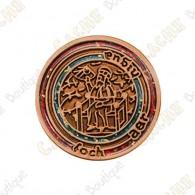 """Micro Coin """"Mapamundi"""" - Copper"""